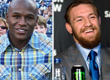Floyd Mayweather (links) und Conor McGregor